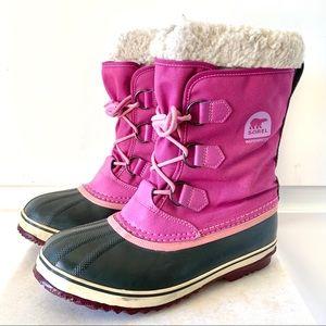 SOREL Kids Yoot Pac Nylon Winter Snow Boots Pink